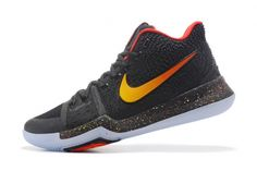 New Nike Kyrie 3 Black Red-Gold Mens Basketball Shoes Nike Kyrie 3 For Sale Kyrie Basketball, Basketball Shorts Girls, Basketball Shoes For Men, Jordan Shoes For Men, Air Jordan Sneakers, Shoes 2018, Kd Shoes, Shoes Sneakers, Kevin Durant