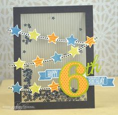 Starry Shaker Birthday Card