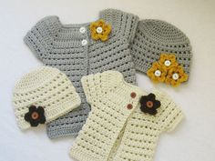 CROCHET PATTERN Toddler Cardigan and Beanie by YarnBlossomBoutique, $4.99