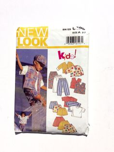 New Look 6398 Children's Pattern Top, Skirt, Pants, Shorts, Jacket, Vest Pattern at DonnaDesigned