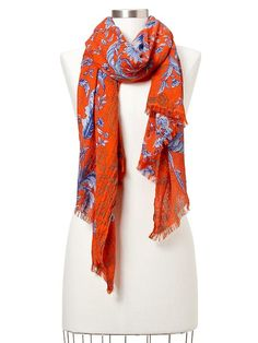 Gap Two Tone Floral Scarf....A bright scarf can jazz up any outfit :).