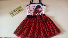 Lindo vestido infantil da Ladybug! Temos diversos vestidos infantis de personagens! Confira vestidos e fantasias temáticos! Aceitamos cartões.