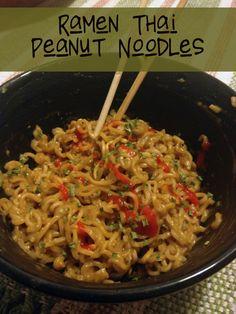 Ramen Thai Peanut Noodles