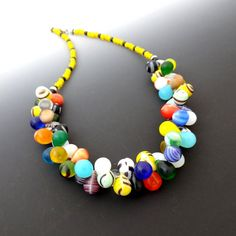 African Wedding Necklace Vintage Beads Old by CalliopeAZCreations, $85.00
