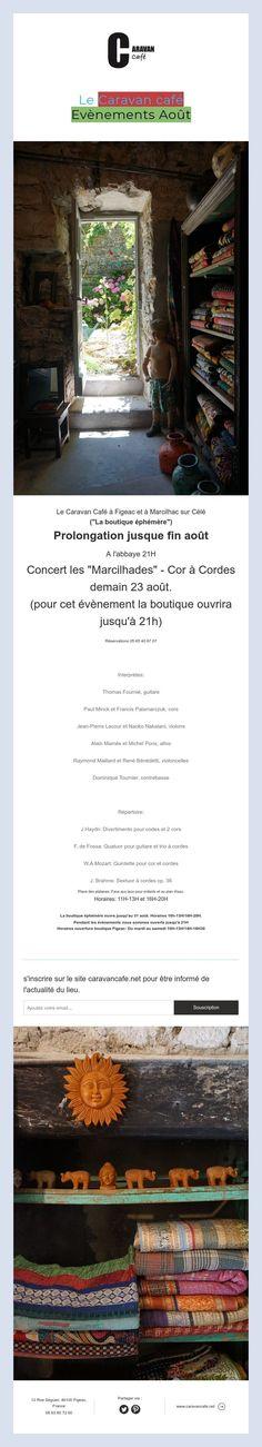 Le Caravan café   Evènements Août Caravan, Concert, Retail Space, Concerts, Motorhome