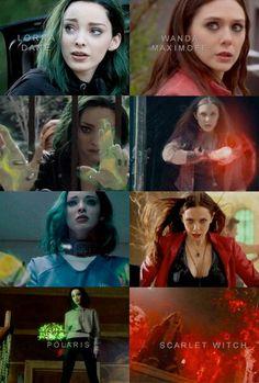 #Marvel #Lorna Dane x Wanda Maximoff #Polaris # Scarlet witch