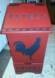 Tater & Onion Box | Kitchens | Pinterest | Onions, Boxes ...