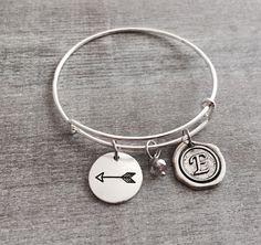 Arrow bracelet, Arrow Jewelry, Friend, Divorce, Break up, Graduation, Moving on , Gifts, Bangle, Silver Bracelet, Charm Bracelet by SAjolie, $19.75 USD