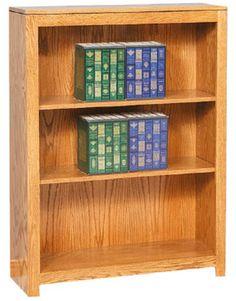 Custom Amish 2 Shelf Contemporary Economy Bookcase 48 High X 36 Wide