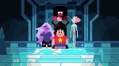 Amazing 16-bit animation of the Steven Universe opening! (: @doisdi) #StevenUniverse #16bit