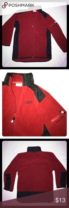 Reebok zip up fleece Old school warm light weight Reebok zip up fleece nice for any chilly night. 10/10 Reebok Sweaters Zip Up