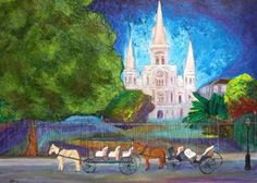 New Orleans Art French Quarter Cathedral
