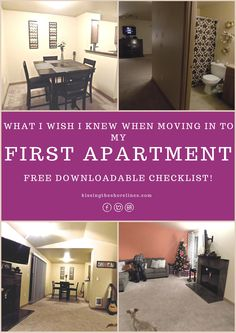 I was SO excited when my husband and I were moving into our first apartment together. It was going to be my first apartment and there were all these nitpick things I wanted to come…Continue Reading… Apartment Needs, My First Apartment, Studio Apartment, Apartment Design, Apartment Living, Dream Apartment, Apartment Checklist, Apartment Hacks, Apartment Goals