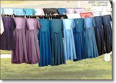 Softy muted color of Amish dresses. Tre is something fascinating and comforting about the Amish way of life. Amish Family, Vie Simple, Amish Culture, Amish Community, Plain Dress, Amish Country, Amish Farm, Amish Quilts, Muted Colors