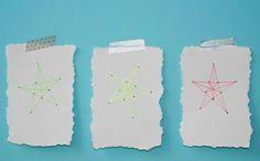 DIY #Christmas stationery - kerststerren borduren