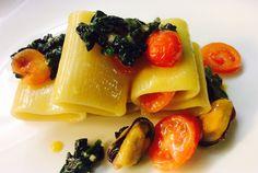 San Valentino_Paccheri con cavolo nero, cozze e pecorino | Food Loft - Il sito web ufficiale di Simone Rugiati