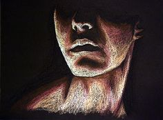 Untitled Portrait Oil Pastel Drawing by Laura Kranz