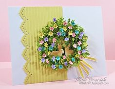 Easter Wreath by kittie747 - Cards and Paper Crafts at Splitcoaststampers
