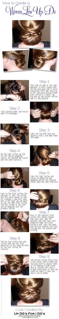 Create an amazing woven up do at home! @15 Minute Beauty Fanatic