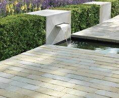 Contemporary stone water feature