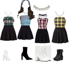 Kpop Fashion Outfits, Stage Outfits, Korean Outfits, Dance Outfits, Womens Fashion, Cute Skirt Outfits, Cute Skirts, Cute Casual Outfits, Dance Fashion