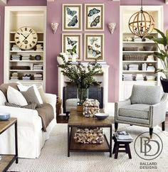 Purple living room walls