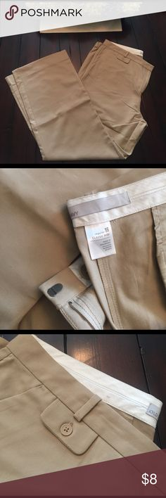 Old Navy Beige Dress Pants Never worn, great condition. Pants Trousers