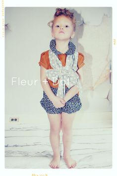 The Sweet Cinnamon Girl Peter Pan Collar Blouse Spring Summer Collection from Fleur and Dot
