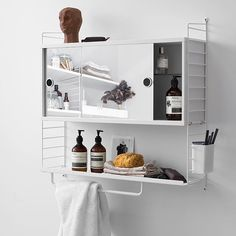 New! The String System cabinet is now available with two sliding mirror doors. With the depth of 20cm it's suitable for smaller bathrooms too. #stringsystem #stringfurniture #bathroom #storage #finnishdesignshop