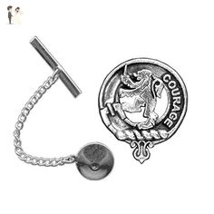 Cumming Scottish Clan Crest Tie Tack / Lapel Pin - Groom cufflinks and tie clips (*Amazon Partner-Link)