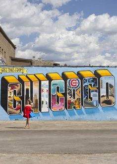 Chicago street art mural and colored wall guide a resource to street art mural walls and graffiti artists in Chicago Chicago Vacation, Chicago Travel, Travel Usa, Chicago Trip, Chicago Bars, Visit Chicago, Banksy, Chicago Murals, Chicago Things To Do