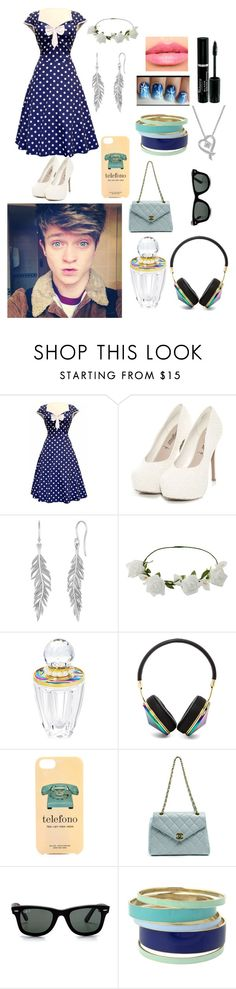 """Date with Connor"" by olive-seidler ❤ liked on Polyvore featuring Pieces, Miss Selfridge, Frends, Kate Spade, Chanel, Ray-Ban, Lipsy, Leo Diamond and Laura Mercier"