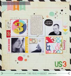#scrapbooking page for #TwoPeasInABucket - by Janna Werner