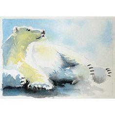 WATER COLOR POLAR BEARS | Polar Bear Art by LaBerge on Etsy