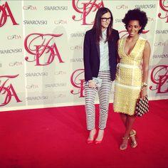 Super stylish women!      Jenna Lyons & Solange Knowles at the CFDA Awards, June 2012.