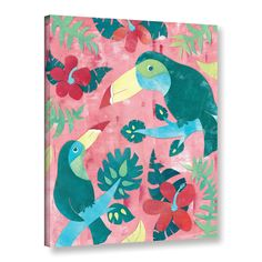 Zoomie Kids Ladonna Jungle Jive I Framed Art Size: My Canvas, Wall Canvas, Canvas Frame, Name Wall Decals, Removable Wall Decals, Art Wall Kids, Wall Art, Hand Painting Art, Wall Murals