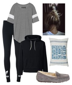 """""""Lazily Sleeping 😴😴😴😴"""" by taoptimist on Polyvore featuring adidas Originals, Lands' End and UGG Australia"""