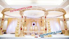 #Wooden #Wedding #Carved #Mandap #Dstexports