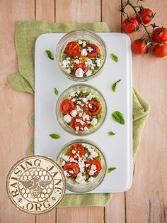 Today's Recipe: Shirred Eggs with Basil Cream & Roasted Tomatoes: Prep Time: 15 Minutes Cook Time: 45 Minutes Makes: 4 Servings
