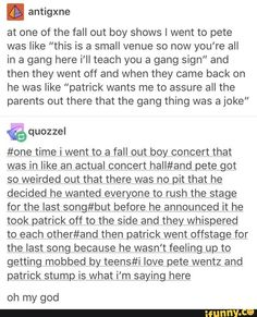 I dont listen tk fob but this is adorable