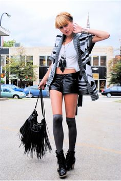 deena-and-ozzy-boots-forever-21-shorts-hanes-shirt-forever-21-sweater_400.jpg 400×600 pixels