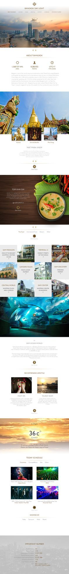 Unique Web Design, Bangkok Day Light #WebDesign #Design