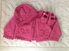Ravelry: Project Gallery for Flower and Lace Cardigan, Hat, and Bootees pattern by Sirdar Spinning Ltd.