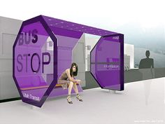 Pontos de ônibus supermodernos Bus Stop Design, Innovation Challenge, Bus Shelters, Bus Station, Smart City, Urban Furniture, Environmental Design, Urban Planning, Urban Design