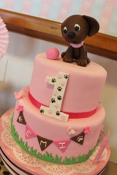 Amazing cake at a Puppy Dog Birthday Party!  See more party ideas at CatchMyParty.com!