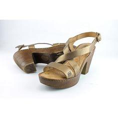 a589dcbe65a1 Born Tomar Women US 7 Gold Platform Sandal Pre Owned 3475 for sale online