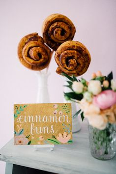 Cinnamon buns - Bun In The Oven Baby Shower (Style Me Pretty & SMP Living)