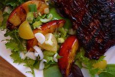 Salade de pêches grillées... l'accompagnement parfait des côtes levées! - Banlieusardises