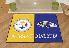 """NFL - Pittsburgh Steelers - Baltimore Ravens House Divided Rugs 33.75""""x42.5"""""""