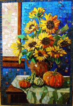 Sunflowers, October 13  24 x 36 inches